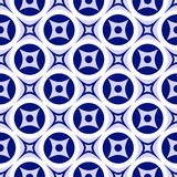 Bright abstract seamless ornament. Blue and white pattern. Vector illustration royalty free illustration