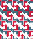 Bright abstract seamless pattern with arrows. Vector wallpaper w Stock Image