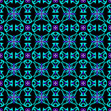 Bright Abstract Seamless Pattern on a Black Background Stock Images