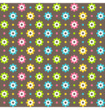 Bright abstract seamless pattern with flowers Royalty Free Stock Photography