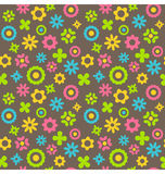 Bright abstract seamless pattern with flowers Stock Images