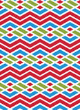 Bright abstract seamless pattern with interweave lines. Multicol Stock Photography