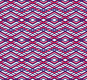 Bright abstract seamless pattern with interweave lines. Vector Stock Image