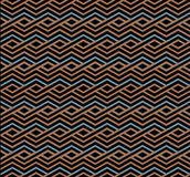 Bright abstract seamless pattern with interweave lines. Vector p Royalty Free Stock Photo