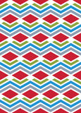 Bright abstract seamless pattern with interweave lines. Vector p Stock Image