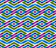 Bright abstract seamless pattern with interweave lines. Vector p Stock Photo