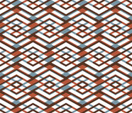 Bright abstract seamless pattern with interweave lines. Vector Royalty Free Stock Images