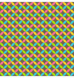 Bright abstract seamless pattern with multicolored circles  Stock Images