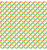 Bright abstract seamless pattern with multicolored circles Stock Photography