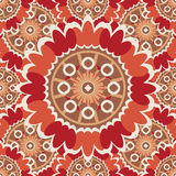 Bright abstract seamless pattern with round ornamental elements. Stock Photo