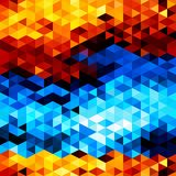 Bright abstract seamless pattern of triangles. Fire and ice vector illustration