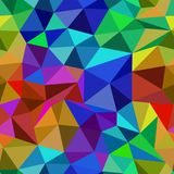 Bright abstract seamless pattern of triangles. Fire and ice royalty free illustration