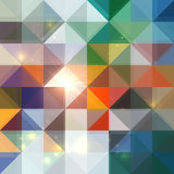 Bright abstract shining triangles background Stock Photos