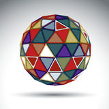 Bright abstract spherical object with kaleidoscope effect, dimen Royalty Free Stock Images