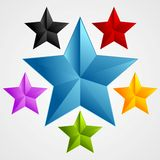 Bright abstract star design. Vector illustration Stock Photography