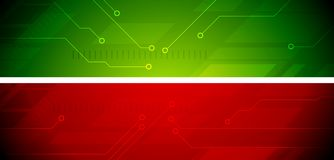 Bright abstract tech banners Stock Photo