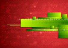 Bright abstract tech Christmas background Stock Photography