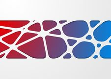 Bright abstract tech corporate paper cut background. Vector design Royalty Free Stock Images