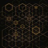 Bright abstract techno background with hexagons. eps 10 royalty free illustration