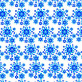 Bright abstract texture from blue flowers on a whi Stock Photos