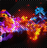 Bright abstract texture, pixel art Stock Photography
