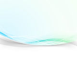 Bright abstract transparent layout background. Blue and green do. Tted gradient swoosh wave divided by grey smoke border over white banner. Vector illustration Royalty Free Stock Photo