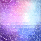 Bright abstract triangle background with white arrows. Stock Photo