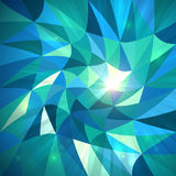 Bright abstract triangles blue vector background Royalty Free Stock Image