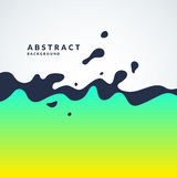 Bright abstract vector background with a dynamic waves and splashes. Poster with gradient. And the text field Royalty Free Illustration