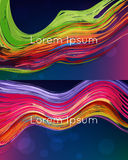 Bright Abstract Vector Backgrounds Stock Image