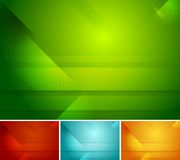 Bright abstract vector tech backgrounds Stock Images