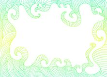 Bright abstract vintage frame, with place for text. Vector hand drawing doodle ilustration. Psychedelic card stock illustration