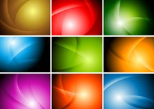 Bright abstract wavy backgrounds Royalty Free Stock Photo