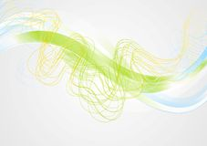 Bright abstract wavy corporate background Royalty Free Stock Photo