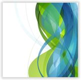 Bright abstract wavy vector design Royalty Free Stock Image