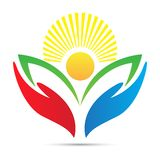 Bright academic education emblem school college university success logo design. Colorful bright global education aim academic sunrise emblem logo design for stock illustration