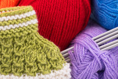 Bright acrylic yarn Stock Photography