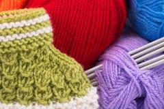 Bright acrylic yarn Stock Photography