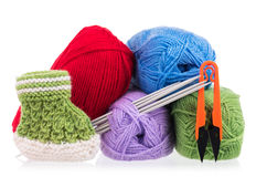 Bright acrylic yarn Stock Image