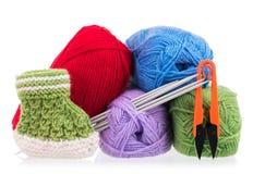 Bright acrylic yarn Stock Image
