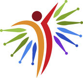 Bright active human logo Stock Image