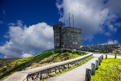 Bright afternoon at Signal Hill, Newfoundland, Canada. Beautiful scenery from Newfoundland landscape, Canada. Rugged ocean scenery and a beautiful marriage of stock photo