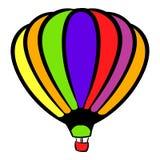 Bright air balloon icon, icon cartoon Stock Images