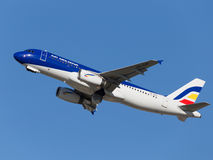 Bright Airbus A320-233 Royalty Free Stock Photography