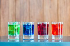 Bright alcohol drinks or berries cocktail in Stock Photos