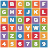 Bright alphabet icons Stock Photography