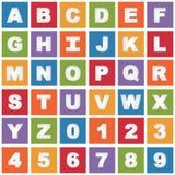 Bright alphabet icons Stock Photography