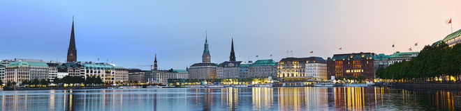 Bright Alster Panorama Royalty Free Stock Photo