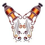 Bright amphora, zodiac Aquarius sign Royalty Free Stock Images