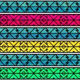 Bright ancient seamless pattern Stock Photos